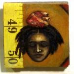 "Sleeveless  2""x2"" oil on wood  