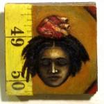 "Sleeveless  2""x2"" oil on wood   2010"